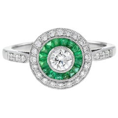 Diamond Emerald Cocktail Ring