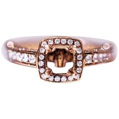 Diamond Engagement Fashion Ring 18 Karat Yellow Gold 1.14 Carat Total Weight