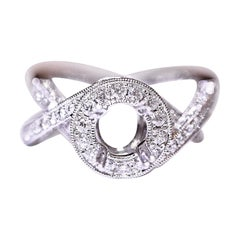 Diamond Engagement Ring Fashion Ring Cocktail Ring 14 Karat 1.10 Carat Total