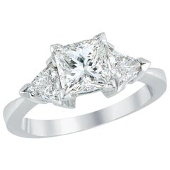 Diamond Engagement Ring Made of Platinum and Diamonds