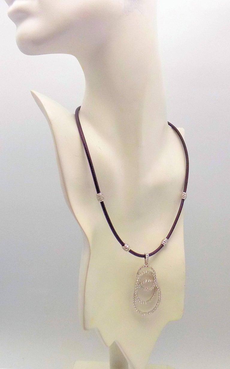 Diamond Enhancer on Black Leather Collar For Sale 2