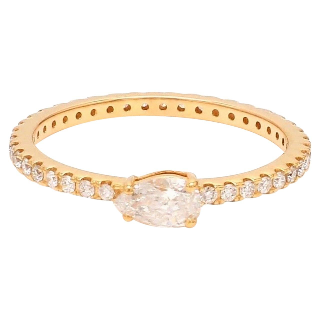 Diamond Eternity 18 Karat Gold Band Ring