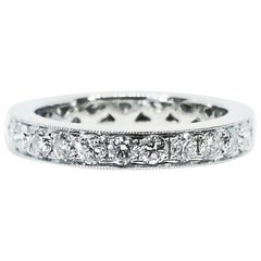 1.41 Carat Round Brilliant Diamond Eternity Anniversary Band White Gold