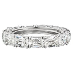 Takat 5.05 Cts Diamond Eternity Band In Platinum, Each Stone Is GIA Certified