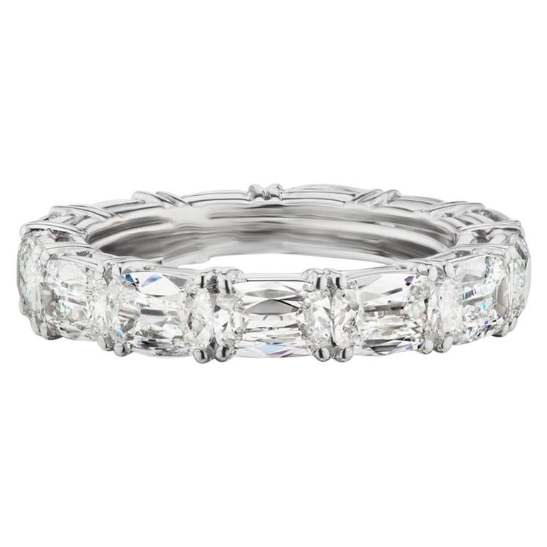 Takat 5.05 Cts Diamond Eternity Band In Platinum, Each Stone Is GIA Certified  For Sale