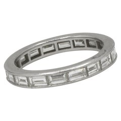 Diamond Eternity Band Ring 1.8 Carat Platinum
