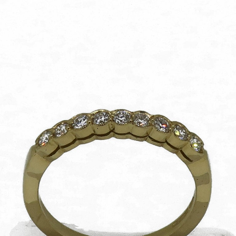 Diamond Eternity Band Ring 18 Karat Yellow Gold In New Condition For Sale In East Grinstead, GB