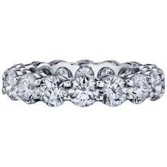 Diamond Eternity Band Ring Set in Platinum 4.80 Carat D/E Colors VS/SI