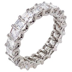 Diamond Eternity Band Square Emerald Cut Diamonds