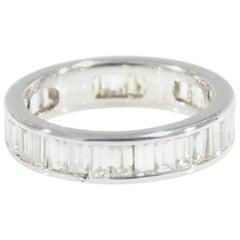 Diamond Eternity Band White Gold 10 Karat