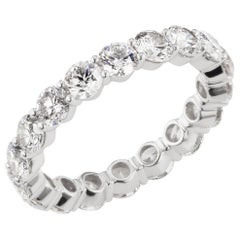 Diamond Eternity Ring Band in 18K White Gold