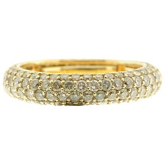 Diamond Eternity Ring in 18 Karat Yellow Gold