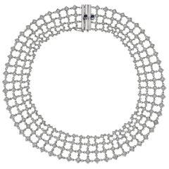 Diamond 'Fantasia' Lattice Collar Necklace