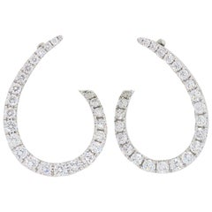 Diamond Fashion Earrings in 18 Karat White Gold