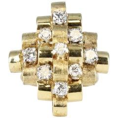 Diamond Fashion Ring in 14 Karat Yellow Gold