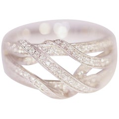 Diamond Fashion Ring or Right Hand Ring 18 Karat White Gold by Demarco