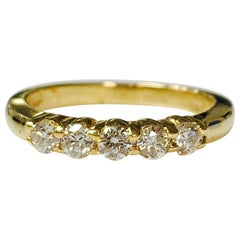 Diamond Five-Stone Ring in Yellow Gold