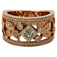 Diamond Floral Band Ring by Neil Lane