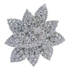 Diamond Flower 18 Carat Gold Ring