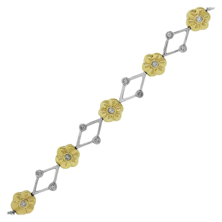 Diamond Flower Bracelet For Sale