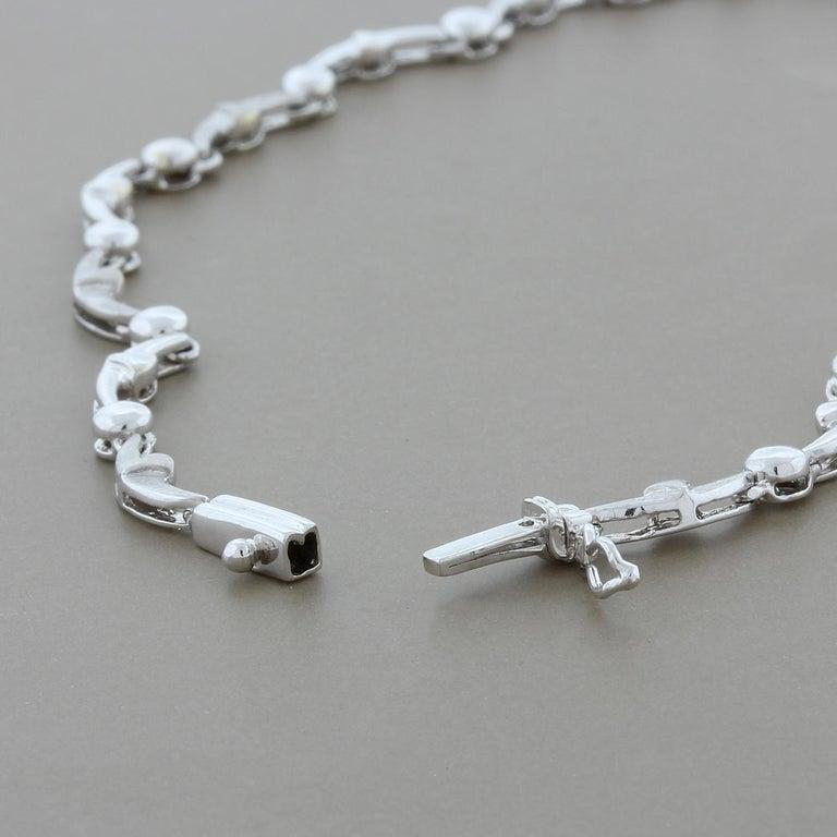 Diamond Flower Chandelier Drops Necklace For Sale 1