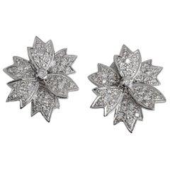 Diamond Freeform Flower Earring