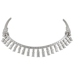 Diamond Fringe Riviere Necklace