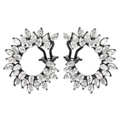 Diamond Front and Back Swirl Earring