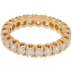 Diamond Full Eternity Ring in 18 Carat Yellow Gold 2.15 Carat