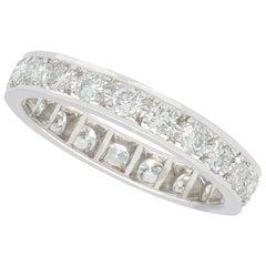 Diamond Full Eternity Ring in White Gold