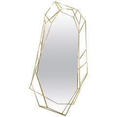 Diamond Full-Length Mirror in Brass