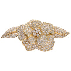 "Diamond 'Camellia"" Brooch"