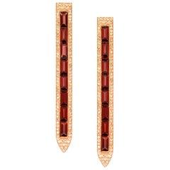 Ralph Masri Diamond Garnet Sacred Windows Earrings