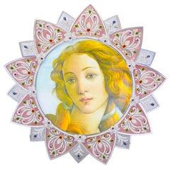 Exquisite Diamond, Gemstone and Quartz Mirror/Picture Frame