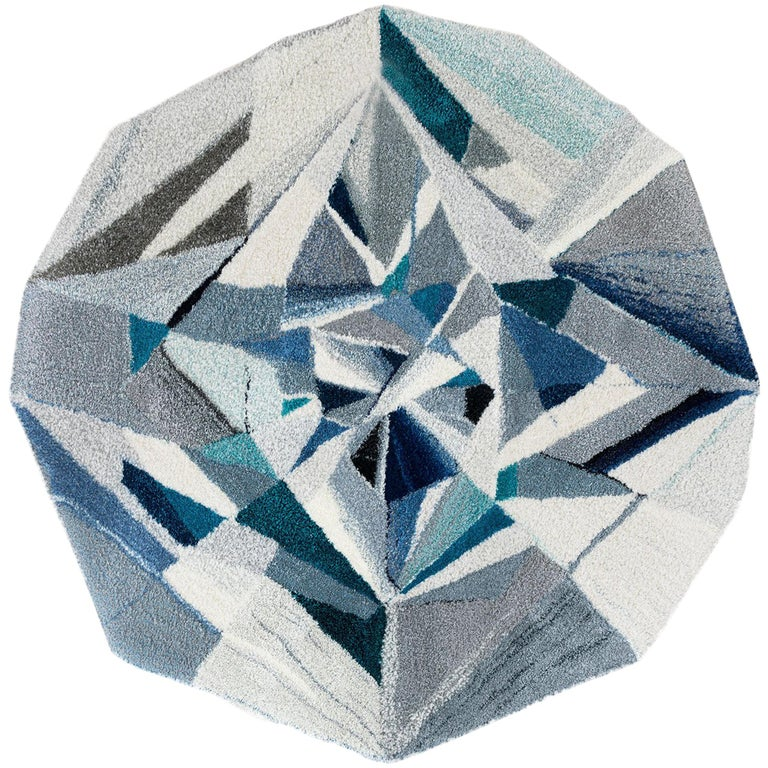"""Diamond"" Gemstone Wool Rug / Tapestry / Wall Hanging by Camilla Iliefski For Sale"