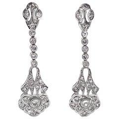 "Diamond ""Generation Gap"" Mini-Chandelier Dangle Earrings in Platinum & Gold"