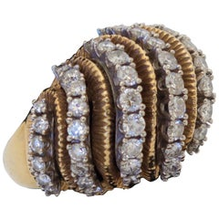 1960's Diamond and Gold Bombe Ring