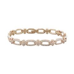 Diamond Gold Bow Bracelet