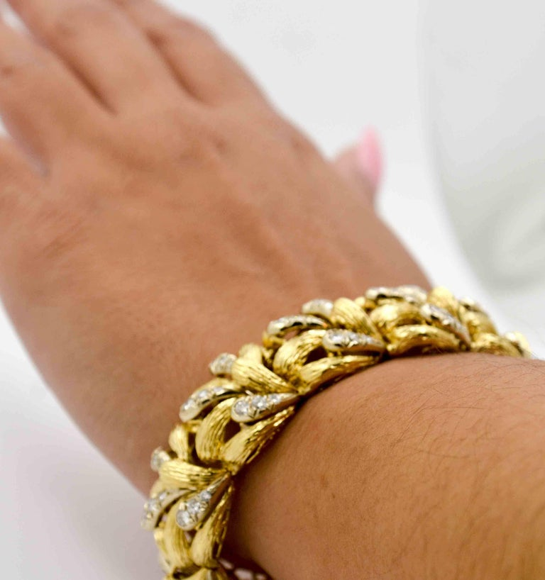 Diamond Gold Bracelet For Sale 4