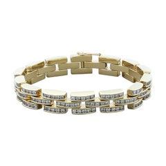 Diamond Gold 'Bricks' Bracelet