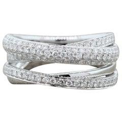 Diamond Gold Bridge Band Ring