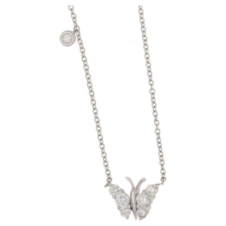 Diamond Gold Butterfly Necklace