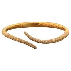 Diamond Gold Bypass Cuff Bracelet
