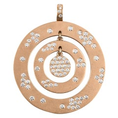 Diamond Gold Circle Pendant
