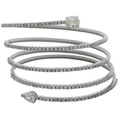 Diamond Gold Coiled Stretch Bracelet