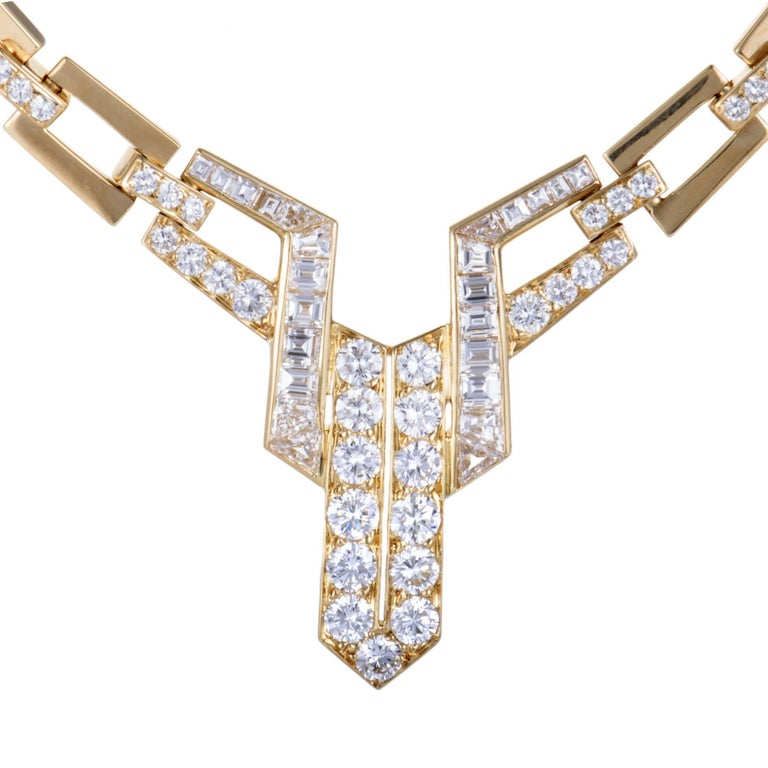 Diamond Gold Collar Necklace