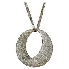Diamond Gold Crescent Pendant