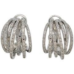 "Diamond Gold ""Crossover"" Earrings"