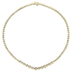 Diamond Gold Eternity Necklace