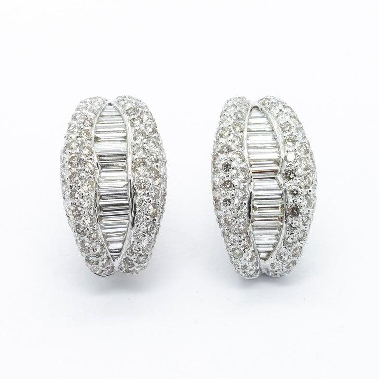 b4d862b3296 Diamond Gold Half Hoop Earrings